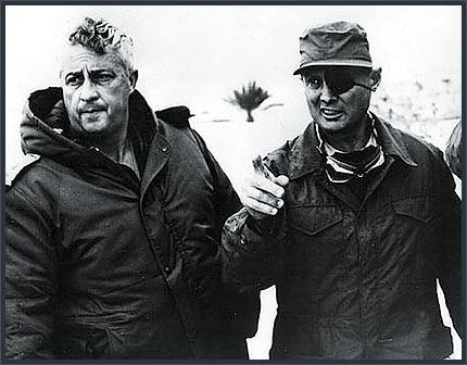 Ariel sharon e Moshe Dayan a Gaza, nel 1971