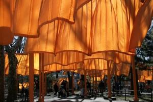 l'opera di Christo a Central park