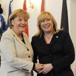 Iveta Radicova e Angela Merkel