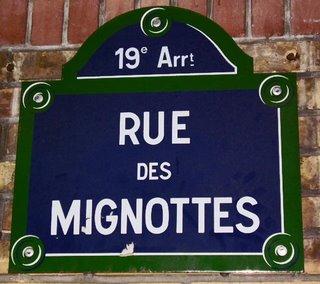 rue des mignottes paris