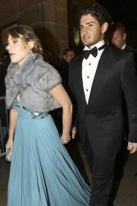Barbara Berlusconi in abito Cavalli e Pato alla prima della Scala