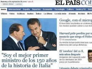 Home page de El Pais