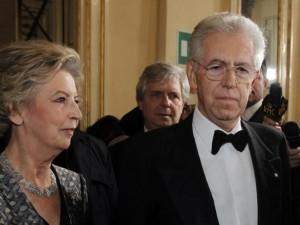Elsa e Mario Monti alla prima della Scala di Milano