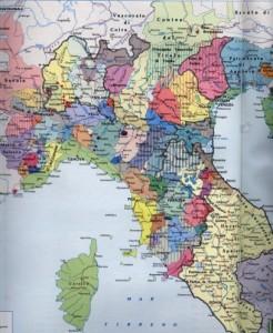 Com'era divisa l'Italia nel Medio Evo