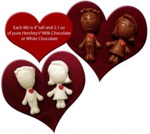 Cioccolatini a forma di Mii della Wii