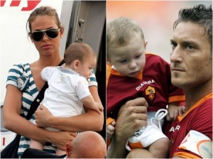 Ilary, Chanel, Christian e Francesco Totti