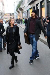 Zlatan Ibrahimovic e Helena fanno Shopping In Monte Napoleone