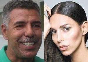 Toninho Cerezo e il figlio/figlia Lea T.