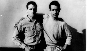 Neal Cassady (left) and Jack Kerouac (right).
