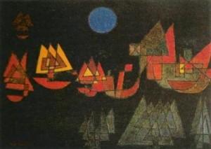 "Paul Klee ""Schiffe im dunkeln"" - Navi nel buio 1927"