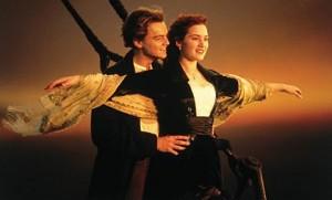 la famosa scena con Leonardo di Caprio e Kate Winslet sulla punta del Titanic