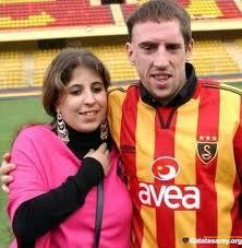 Franck Ribéry e Wahiba poi divenuta sua moglie