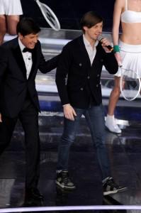 Martin Solveig con Gianni Morandi a Sanremo 2012