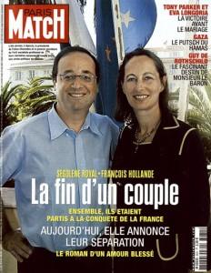 COUVERTURE DU PARIS MATCH N° 3031 DU 21 JUIN 2007 : SEGOLENE ROYAL - FRANCOIS HOLLANDE LA FIN D'UN COUPLE