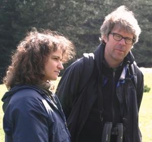 Franzen e la sua traduttrice Silvia Pareschi. Birdwatching sulla Sila