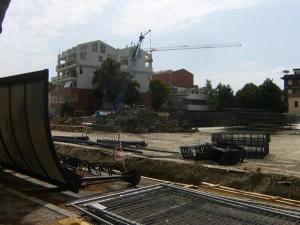 La costruzione di un parcheggio multi-piano in centro a Rimini