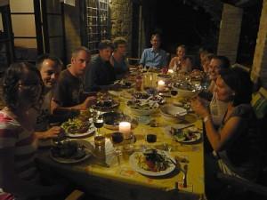 cena all'aperto colli