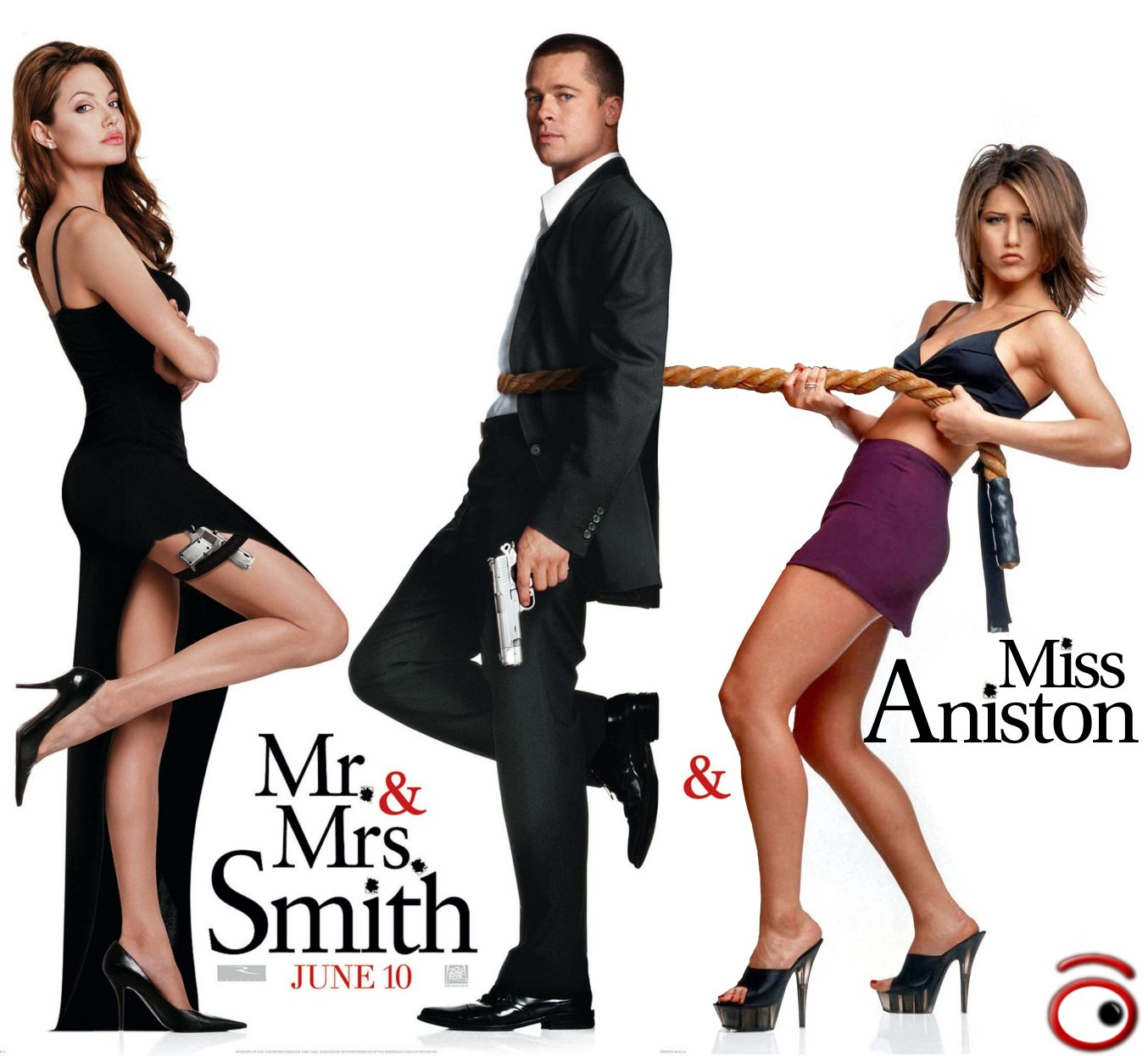 Brad Pitt  Angelina Jolie e Jennifer Aniston in Mr  Smith  Mrs  Smith    Brad Pitt And Jennifer Aniston And Angelina Jolie