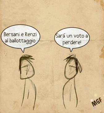 vignetta ballottaggio primarie PD