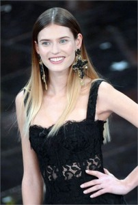 Bianca Balti a San Remo in Dolce e Gabbana