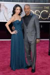 Corinne Bishop e Jamie Foxx in Calvin Klein