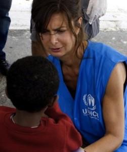 Luara Boldrini al lavoro per UNHCR