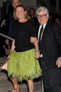Miuccia Prada e il marito Patrizio Berselli