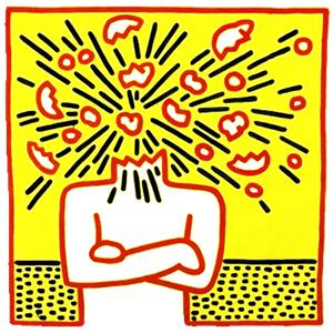 exploding-head-keith-haring