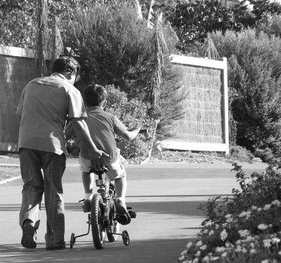 father bike son