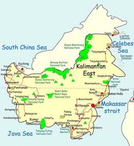 Mappa del Kalimantan