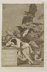 il sonno della ragione genera mostri- Goya