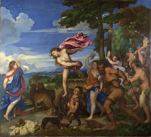 Tiziano, Il trionfo di Bacco e Arianna.