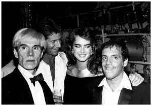 Andy Warhol, Calvin Klein, Brooke Shields - Studio 54, 1981 NYC.