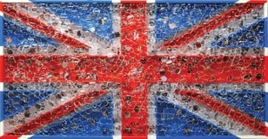 Cool Britannia. Mixed media construction with collage