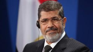 Il presidente destituito Mohamed Morsi, in visita a Berlino