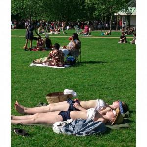 Hyde-park sunbathing