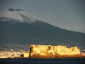 Il Vesuvio con la neve