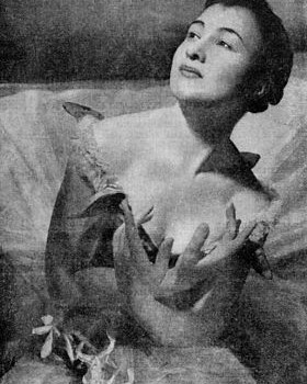 Liliana Merlo nel 1954.