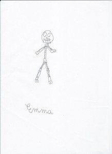 Emma disegna A Nightmare before Christmas
