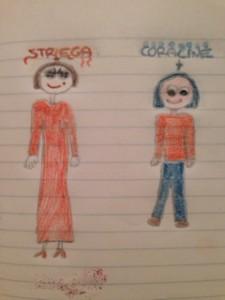 La strega di Coraline fa un po' paura, però Emma riguarda il film  ogni volta che può