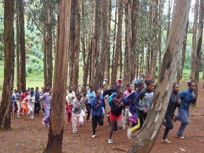 L'allenamento a Bekoji.