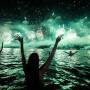People celebrate the New Year at Copacabana beach in Rio de Janeiro, Brazil
