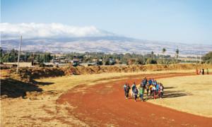 La pista di allenamento di Bekoji.