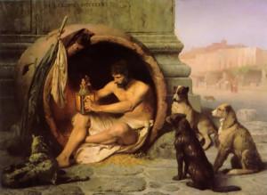 Si dice che Diogene si sia suicidato trattenendo il respiro ...