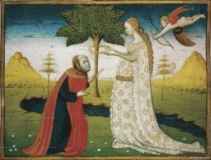 Laura incorona Petrarca