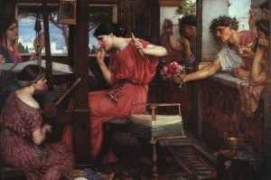 John William Waterhouse - Penelope e i pretendenti (Penelope and the Suitors, 1912)
