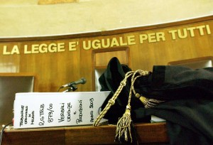 Immagine anonima di un tribunale di Milano