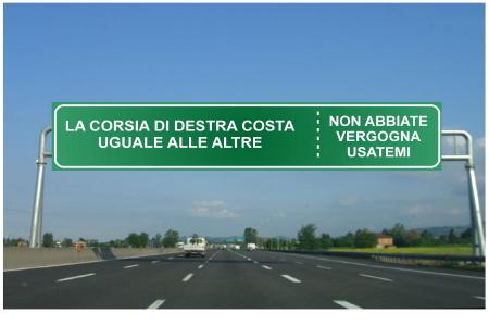 Corsia di Destra Autostrada - Autopareri