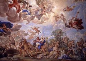 """""""Ratto di Proserpina"""", affresco """"L'apoteosi della famiglia Medici"""", Palazzo Medici Riccardi, Firenze"""