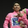 Il colombiano Quintana sul podio (foto Montenero)